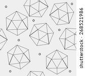 geometric seamless simple... | Shutterstock .eps vector #268521986