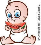 vector illustration of a cute... | Shutterstock .eps vector #268528052