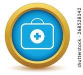 gold doctor bag on a white... | Shutterstock .eps vector #268528142