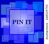 pin it icon. internet button on ... | Shutterstock .eps vector #268529792