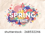 Spring Time Colorful Typograph...