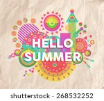 hello summer colorful... | Shutterstock .eps vector #268532252