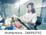 female life scientist... | Shutterstock . vector #268543742