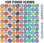colorful food icon set
