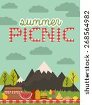 picnic party | Shutterstock .eps vector #268564982