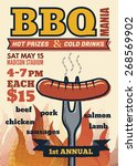 bbq mania party for invitation ...   Shutterstock .eps vector #268569902