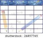 starting school vector | Shutterstock .eps vector #26857765