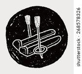 ski doodle | Shutterstock . vector #268578326