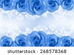 Border Of Roses Isolated On...
