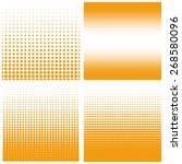 vector halftone dots. orange... | Shutterstock .eps vector #268580096