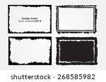 grunge frame set.grunge... | Shutterstock .eps vector #268585982