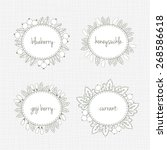 vector set of labels with... | Shutterstock .eps vector #268586618
