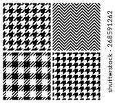 set of four fashion patterns.... | Shutterstock .eps vector #268591262