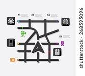 technology infographic | Shutterstock .eps vector #268595096