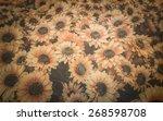 close up artificial sunflower...   Shutterstock . vector #268598708