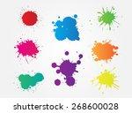 colorful paint splat.paint... | Shutterstock .eps vector #268600028