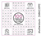 lovely 100 travel icons set...