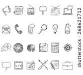 vector set of sketch... | Shutterstock .eps vector #268621712