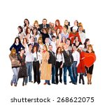 teams over white workforce... | Shutterstock . vector #268622075