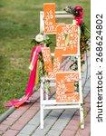 Orange Word Love Wedding Decor...