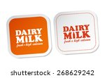 dairy milk stickers | Shutterstock .eps vector #268629242