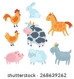 farm animals set vector   Shutterstock .eps vector #268639262