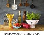 italian food ingredients ...   Shutterstock . vector #268639736
