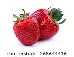 delicious  strawberry on a... | Shutterstock . vector #268644416