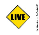 Live Black Stamp Text On Yellow
