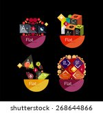 set of abstract geometric...   Shutterstock .eps vector #268644866