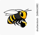 bee | Shutterstock .eps vector #268661882