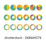 pie charts icon | Shutterstock .eps vector #268664276