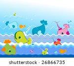 marine cute animals | Shutterstock .eps vector #26866735