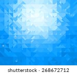 blue triangle background | Shutterstock . vector #268672712