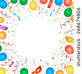 celebration festive background  ... | Shutterstock . vector #268674806