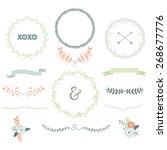 vintage laurels wreath | Shutterstock .eps vector #268677776
