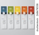 design clean number banners... | Shutterstock .eps vector #268678538