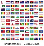 world flags collection  flags... | Shutterstock .eps vector #268680536