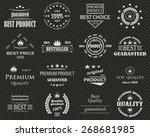 premium quality labels set.... | Shutterstock .eps vector #268681985