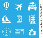 travel icon set | Shutterstock .eps vector #268686428