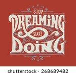 "motivational quote ""stop... | Shutterstock .eps vector #268689482"