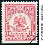 mexico   circa 1914  a stamp... | Shutterstock . vector #268696502
