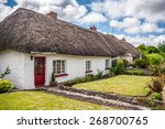Thatch Roof Cottage In The...