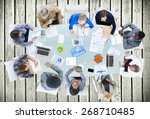 meeting communication planning... | Shutterstock . vector #268710485