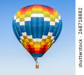hot air balloon in the blue sky | Shutterstock . vector #268718882