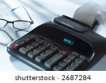 calculator and glasses | Shutterstock . vector #2687284
