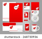 red corporate identity template | Shutterstock .eps vector #268730936