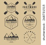set if vintage rafting logo ... | Shutterstock .eps vector #268731515