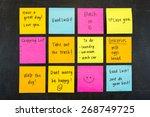 Hand Written Sticky Note...