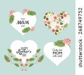 a set of cute design elements... | Shutterstock .eps vector #268749752